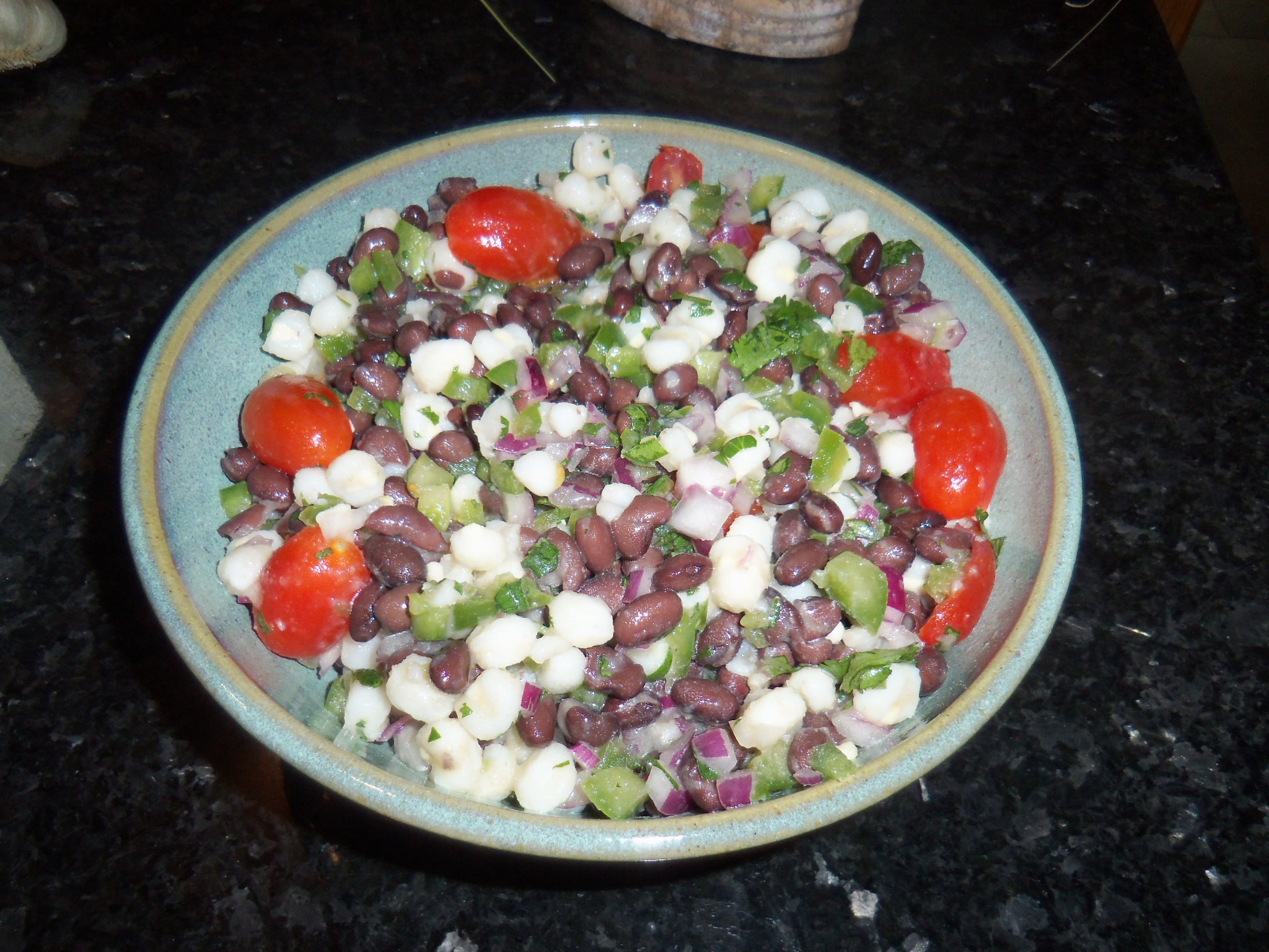 Black Bean and Hominy Salad