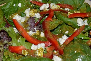 Fresh Basil Vinaigrette Salad Dressing